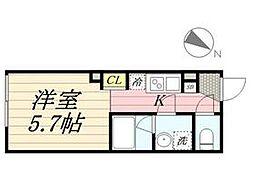 PASEO代田橋 3階ワンルームの間取り