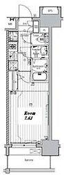 名古屋市営名城線 東別院駅 徒歩7分の賃貸マンション 5階1Kの間取り