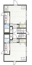 iON MEGURO E 3階ワンルームの間取り