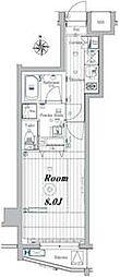 メイクスデザイン板橋本町II 4階1Kの間取り