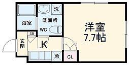 仮称)川崎区日進町新築マンション 1階1Kの間取り