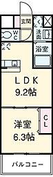 La・La・garden 1階1LDKの間取り