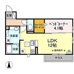 JR御殿場線 長泉なめり駅 徒歩25分の賃貸アパート 2階1LDKの間取り