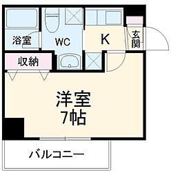 アルファコート西川口13 5階1Kの間取り