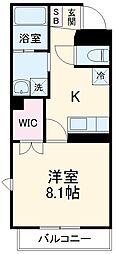 JR東海道新幹線 静岡駅 徒歩26分の賃貸マンション 3階1Kの間取り