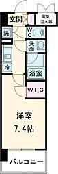 都営三田線 蓮根駅 徒歩11分の賃貸マンション 3階1Kの間取り