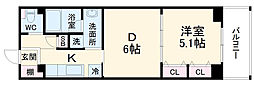 仮称)柏の葉キャンパス 新築マンション計画 3階1DKの間取り