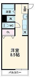 JR総武線 東船橋駅 徒歩11分の賃貸アパート 1階1Kの間取り