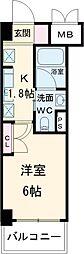 JR中央線 荻窪駅 徒歩5分の賃貸マンション 3階1Kの間取り