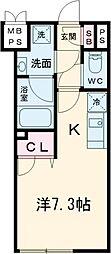 JR中央線 高円寺駅 徒歩6分の賃貸マンション 4階ワンルームの間取り