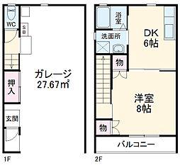 静岡鉄道静岡清水線 狐ヶ崎駅 バス20分 柏尾下車 3.6kmの賃貸アパート 2階1DKの間取り