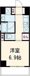 東急田園都市線 池尻大橋駅 徒歩9分の賃貸マンション 1Kの間取り