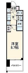 名古屋市営東山線 本郷駅 徒歩8分の賃貸マンション 11階1Kの間取り