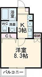 東京メトロ有楽町線 地下鉄成増駅 徒歩4分の賃貸アパート 1階1Kの間取り