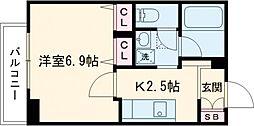 東武東上線 東武練馬駅 徒歩7分の賃貸マンション 3階1Kの間取り