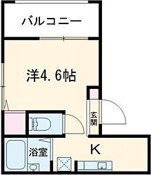 東武東上線 北池袋駅 徒歩2分の賃貸アパート 2階ワンルームの間取り
