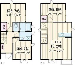 西武池袋線 東長崎駅 徒歩6分の賃貸一戸建て 1階3LDKの間取り