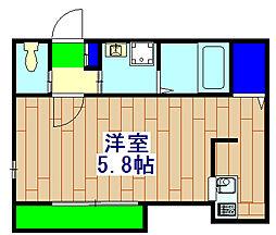 (仮称)市川福栄2丁目アパート 2階1Kの間取り