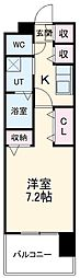名古屋市営名城線 黒川駅 徒歩4分の賃貸マンション 10階1Kの間取り