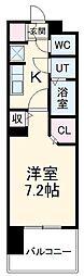 名古屋市営名城線 黒川駅 徒歩4分の賃貸マンション 9階1Kの間取り