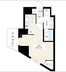 京王線 桜上水駅 徒歩7分の賃貸マンション 2階ワンルームの間取り