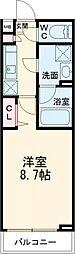 西武池袋線 富士見台駅 徒歩5分の賃貸マンション 4階1Kの間取り