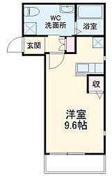 小田急小田原線 登戸駅 徒歩5分の賃貸アパート 3階1Kの間取り