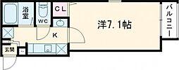 東武伊勢崎線 五反野駅 徒歩10分の賃貸マンション 3階1Kの間取り