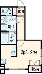 仮)ベルフォーレ小金井公園 1階ワンルームの間取り
