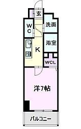 仮)道下町4丁目プロジェクト 7階1Kの間取り