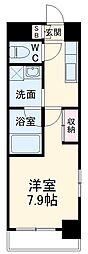 名古屋市営名港線 六番町駅 徒歩10分の賃貸マンション 5階1Kの間取り