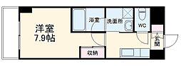 名古屋市営名港線 六番町駅 徒歩10分の賃貸マンション 9階1Kの間取り