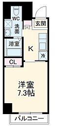 ライフステージ.北浦和駅前 2階1Kの間取り