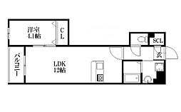 JR香椎線 宇美駅 徒歩4分の賃貸マンション 2階1LDKの間取り