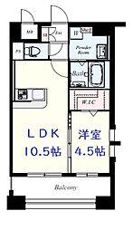 JR鹿児島本線 吉塚駅 徒歩10分の賃貸マンション 6階1LDKの間取り