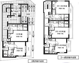 東京メトロ丸ノ内線 中野新橋駅 徒歩4分の賃貸マンション 2階1Kの間取り