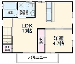 京都地下鉄東西線 太秦天神川駅 徒歩5分の賃貸一戸建て 2階1LDKの間取り