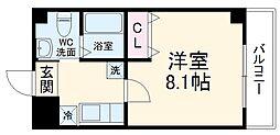 仮称)梅津神田町共同住宅 3階1Kの間取り