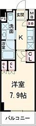 都営三田線 西台駅 徒歩9分の賃貸マンション 4階1Kの間取り