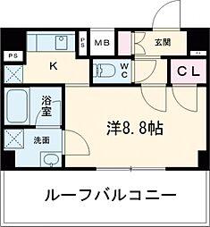 東武東上線 ときわ台駅 徒歩10分の賃貸マンション 7階ワンルームの間取り