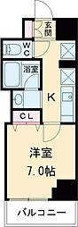 クレストコート志村坂上 12階1Kの間取り