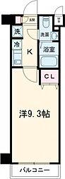 東武東上線 ときわ台駅 徒歩10分の賃貸マンション 2階1Kの間取り