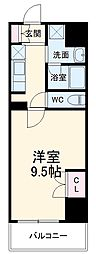 名古屋市営名城線 茶屋ヶ坂駅 バス7分 香流橋徒歩1分下車 徒歩26分の賃貸マンション 2階1Kの間取り