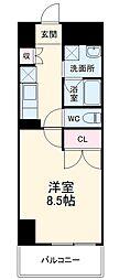 (仮称)香流橋1丁目マンション 13階1Kの間取り
