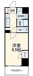 (仮称)香流橋1丁目マンション 8階1Kの間取り