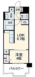 JR香椎線 宇美駅 徒歩35分の賃貸マンション 4階1LDKの間取り