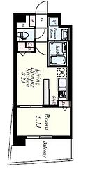 JR香椎線 宇美駅 徒歩35分の賃貸マンション 5階1LDKの間取り