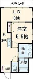 ティアナテラス 4階1LDKの間取り
