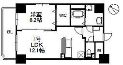 JR筑肥線 九大学研都市駅 徒歩4分の賃貸マンション 3階1LDKの間取り