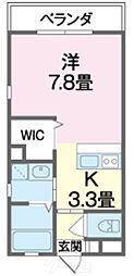 沖縄都市モノレール 奥武山公園駅 3.2kmの賃貸マンション 1Kの間取り